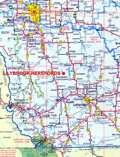 Contact Map to Lilybrook Herefords